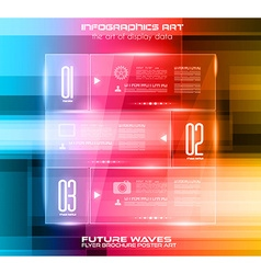 Infographic Layout with Spotlights over an high vector image vector image