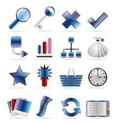 internet and web site icons vector image