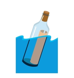 Message in a bottle vector image vector image