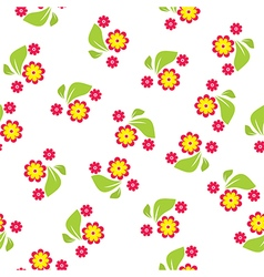 Seamless pattern of flowers and leaves vector image vector image