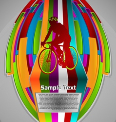 summer sport design series cycling theme vector image
