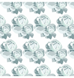 Watercolor Blue Roses pattern vector image vector image