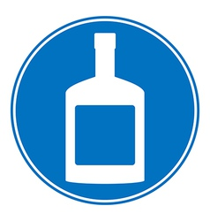 Bottles of cognac sign is allowed to drink vector image