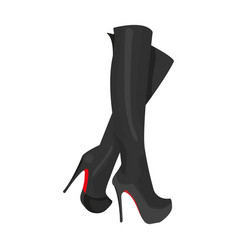 leather high-heeled women sexy shoes women s vector image vector image