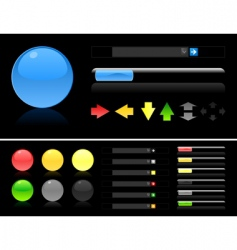 scroll bars vector image vector image