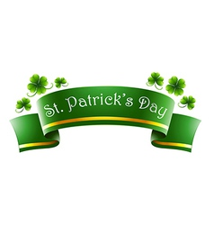 A green symbol for St Patricks Day vector image