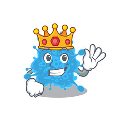 A wise king andecovirus mascot design style vector