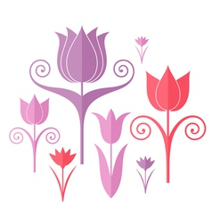 Abstract flowers Origami vector image