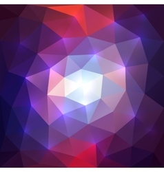 Abstract triangular mosaic background vector image