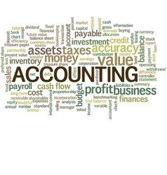 Accounting Word Cloud Bubble Tags Tree vector image