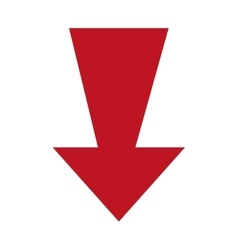 Arrow isolated flat icon vector image