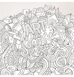 Art hand lettering and doodles elements background vector