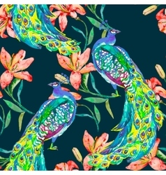Beautiful peacock pattern Peacocks and vector image