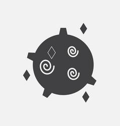 black icon on white background spinning satellite vector image