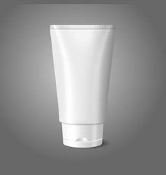 Blank white realistic tube for cosmetics cream vector image
