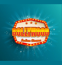 bollywood indian cinema film frame vector image