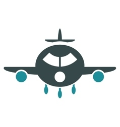 Cargo Aircraft Flat Icon vector image