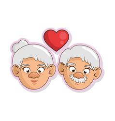 Cartoon grandparents design vector
