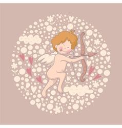 Cartoon of Cupid vector image