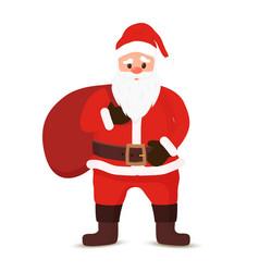 cartoon santa claus bag sack of gifts vector image