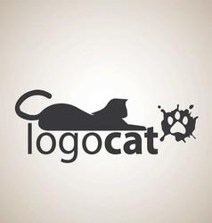 cat logo 5 vector image