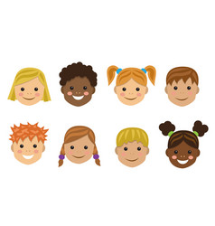 Children of different nations vector