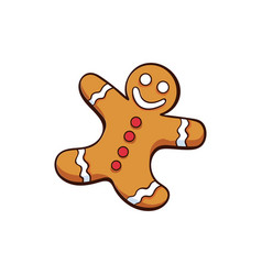 christmas or new year gingerbread vector image