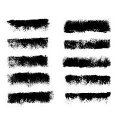collection black dirty design element vector image