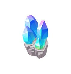 Crystal gem gemstone jewel glass blue rhinestone vector