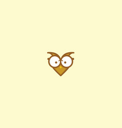 cute owl love logo icon vector image