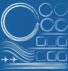 design elements of jet trails vector image