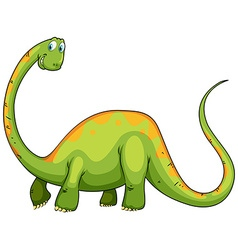 Dinosaur with long neck and tail vector
