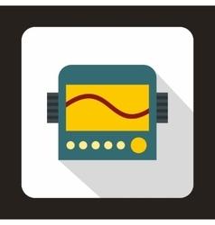 Display with cardiogram ecg machine icon vector image