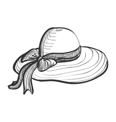 doodle woman hat vector image