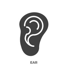 ear glyph icon vector image