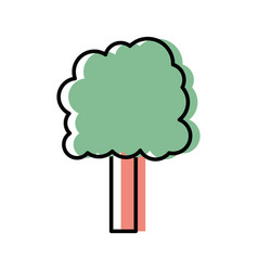 Ecology tree to environment care icon vector