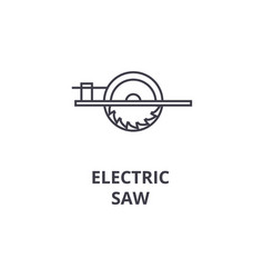 electric saw line icon sign vector image