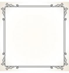 elegant vector frame vector image vector image