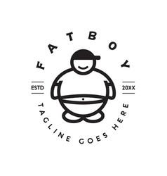 Fat boy logo vector
