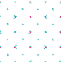 Floral pattern with tiny flowers and leaves vector