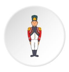 French soldiers in uniform icon cartoon style vector
