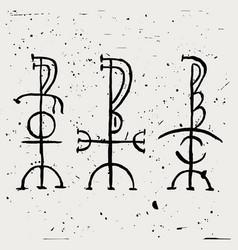 Freyr - fjolnir - feingr scandinavian magic runes vector