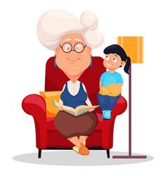 Grandmother wearing eyeglasses vector