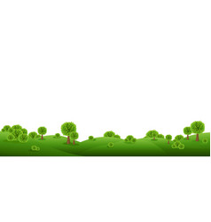 green landscape isolated with white background vector image
