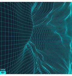 Grid Background 3d vector image