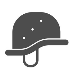 helmet solid icon military hat vector image