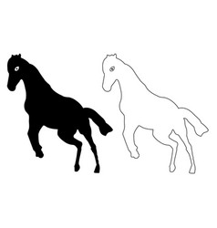 Horse silhouette icon eps vector