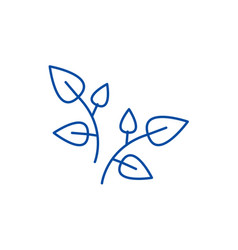 leaf branches line icon concept leaf branches vector image