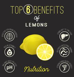 Lemons beans benefits vector