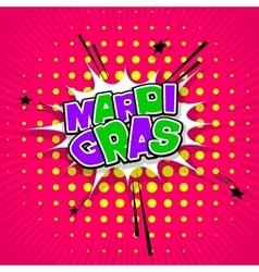 Lettering Mardi Gras pink vector image